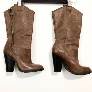 Jessica Simpson leather riding boots